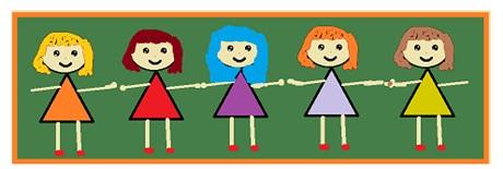 grafika przedstawia pięcioro dzieci